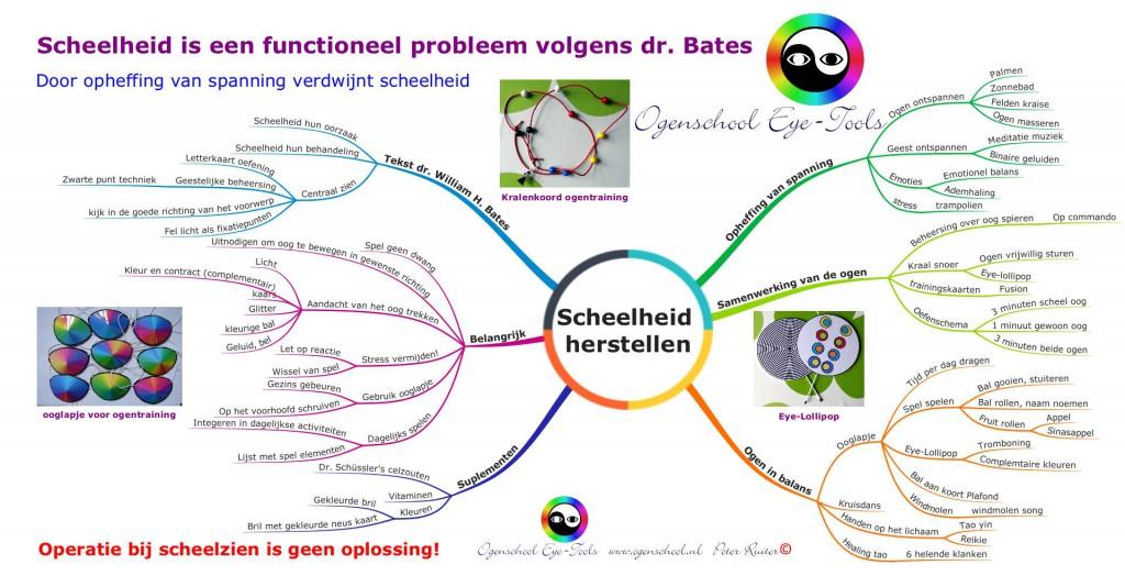 Scheelheid herstellen. Scheelheid is een functioneel probleem volgens dr. Bates.